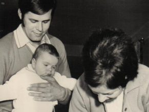 Karel a Hana Možíšovi s dcerou Gabrielou, narozenou 5.5.1972.