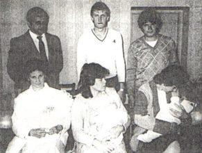 Lebovičová Věra a František Purm se synem Štěpánem, narozeným 21.3.1987, Milada a Jiří Illnerovi se synem Jiřím, narozeným 5.3.1987, Marie a Zdeněk Doubicovi se synem Tomášem, narozeným 5.3.1987.