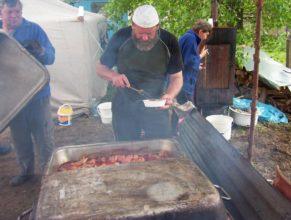 Nakládané maso, zleva Jan Roleček, Lubomír Šrajbr a Hedvika Vejdělková.
