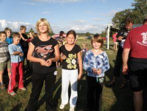 Společná fotografie, po přebírání cen. Vlevo Lucie Maťátková a vpravo Kristýna Bittnerová.