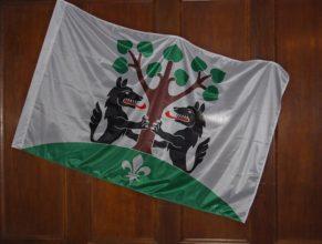 Obecní vlajka.