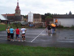 Volejbalistky před zápasem.