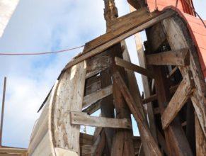 Oprava kostelní věže.