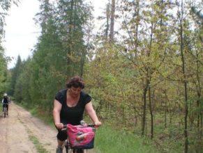 Cyklistka.