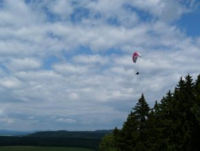 Paragliding.