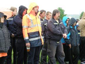 Nástup družstev na začátku akce.