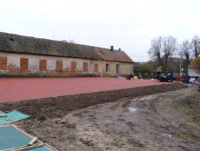 Stavba hřiště - poslední podklad.