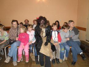 Čert s dětmi.