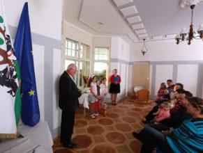 Jindřich Franc při proslovu.