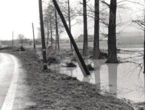 Zatopený pozemek u čp. 46 v Dolních Vlčkovicích.