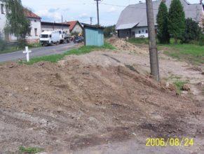 Plynofikace, u bývalého JZD, Horní Vlčkovice.