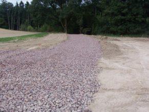 Výstavba cesty C 2.5 HV k lesu Bokouš.