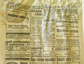 Nalezené noviny - Čech z 5. září 1912.