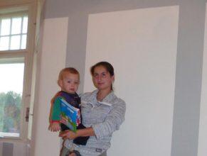 Jana Biberlová se synem Janem Biberlem narozeným 21.8.2010.