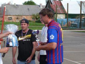 Předávání cen, vlevo Vladimír Vitebský.