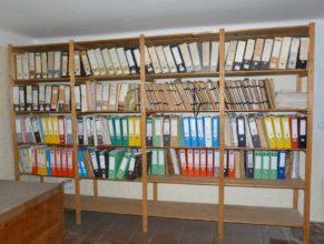 Archiv na půdě obecního úřadu.