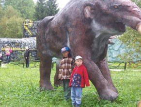 S mamutem.
